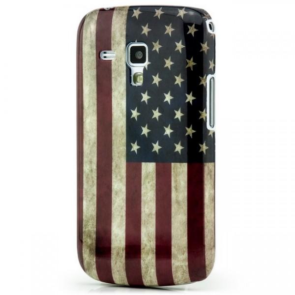 USA Retro Cover für Samsung Galaxy S Duos