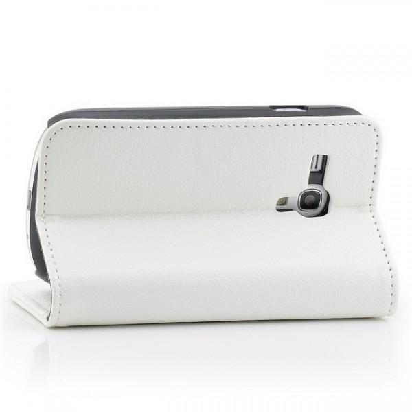 Schutzhülle mit Magnetverschluss für Samsung Galaxy S3 Mini Weiß