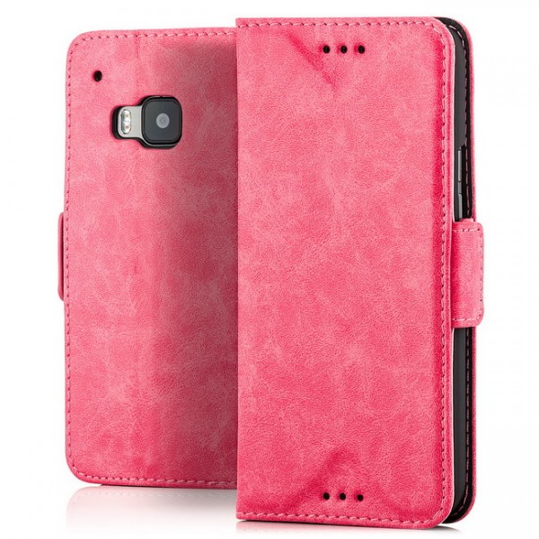 Business Wallet mit kleinem Clip für HTC One M9 Pink