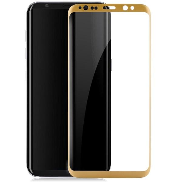 Curved Displayschutzglas für Samsung Galaxy S8 - Gold