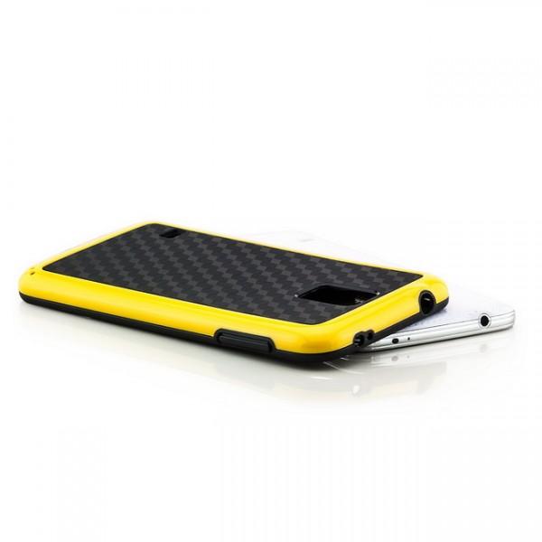 Cubes TPU Back Cover für Samsung Galaxy S5 Schwarz-Gelb