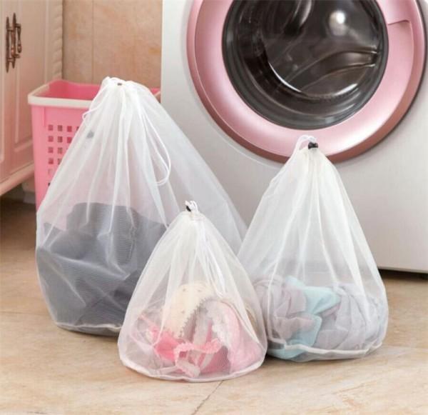 3x Wäschenetz 59 x 49 cm Wäschesack Wäsche Beutel Waschmaschinennetz Waschsack