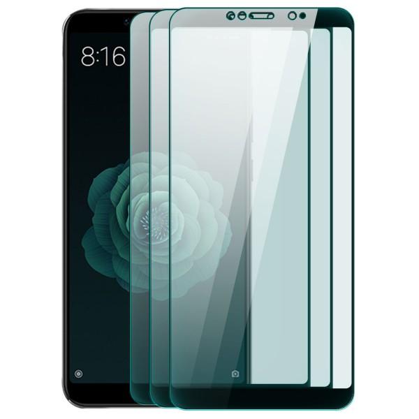 3x Full Cover Displayschutzglas für Xiaomi Mi 6X - Schwarz