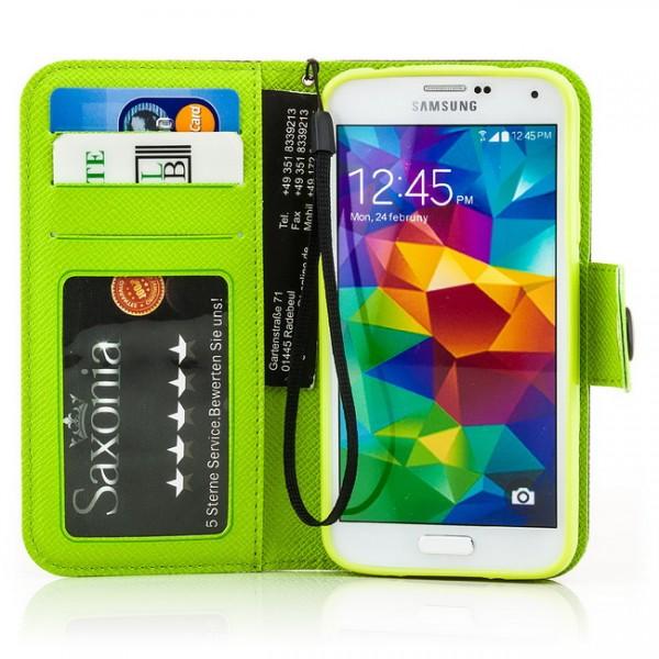 Dual Colours Tasche für Samsung Galaxy S5 Schwarz