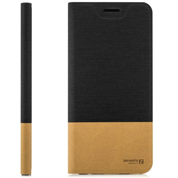 Kunstleder Slim Tasche für Huawei P30 - Schwarz