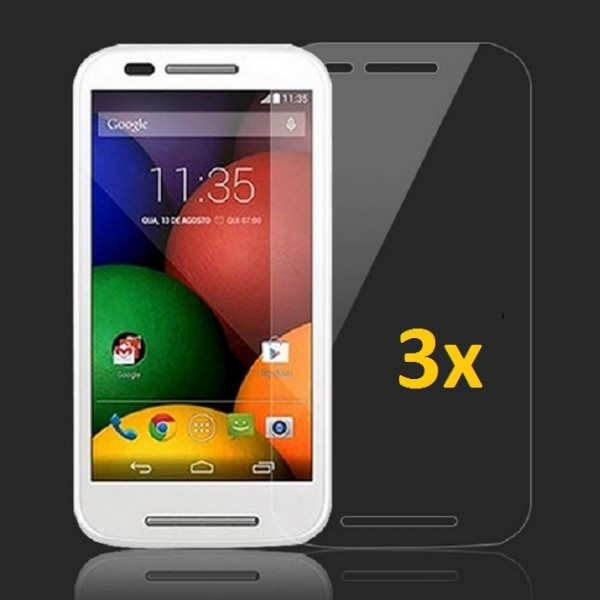 3x Displayschutzfolie für Motorola Moto E Matt