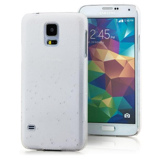 Regentropfen Hard Case für Samsung Galaxy S5 Weiß