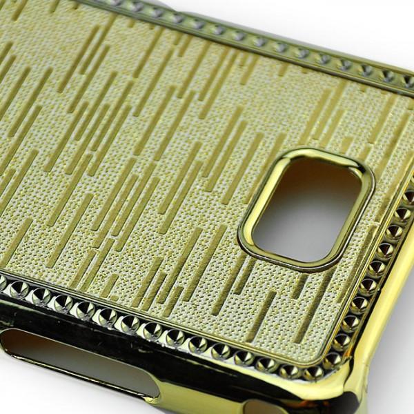 Glitzer Streifen Back Cover für Samsung Galaxy S2 Gold