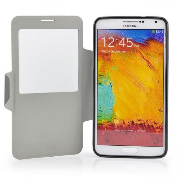 Cross Flip Tasche für Samsung Galaxy Note 3 Schwarz