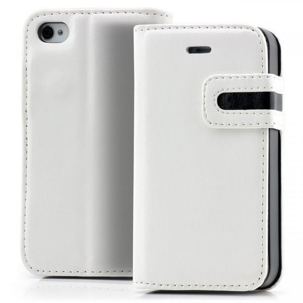 Dual Colours Tasche für Apple iPhone 4 & 4S Weiß