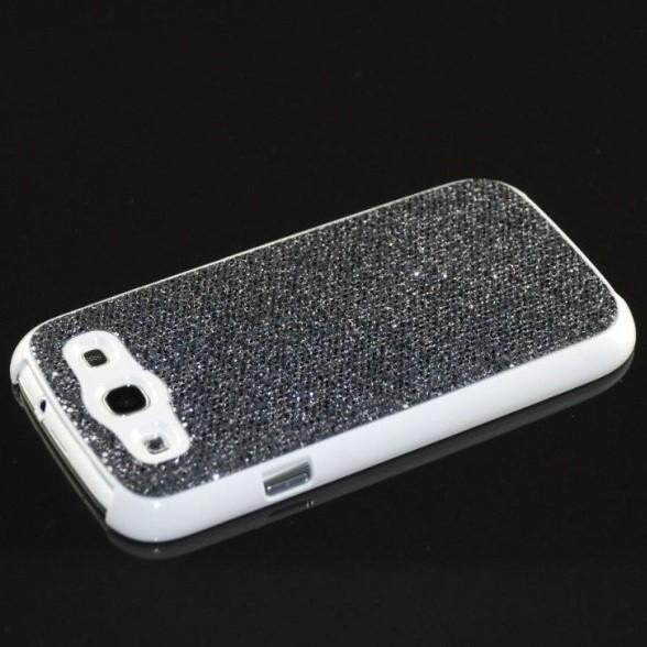 Glitzer Back Cover für Samsung Galaxy S3 Schwarz