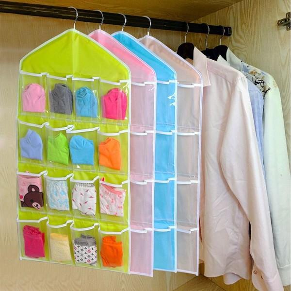 2x Kleiderschrank Organizer - Grün