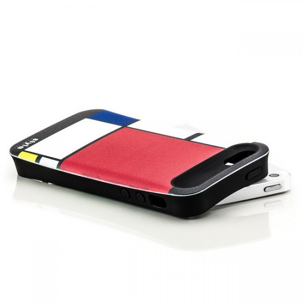 Mondrian Style Back Cover für Apple iPhone 5 & 5S Abstrakt Rot