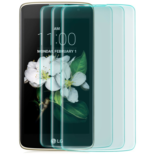 3x Curved Displayschutzglas für LG K7 (2016) - Transparent