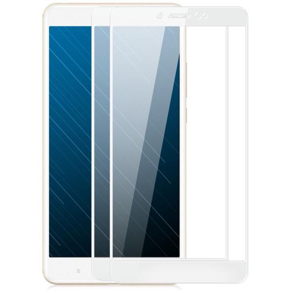2x Full Cover Displayschutzglas für Xiaomi Mi Max 2 - Weiß