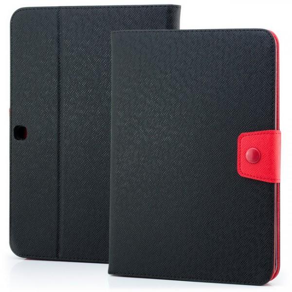 Dual Colours Tasche für Samsung Galaxy Tab 3 10.1 Schwarz-Rot