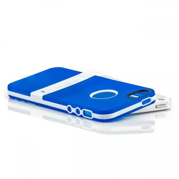 Silikon Stand Case für Apple iPhone 5 & 5S Blau