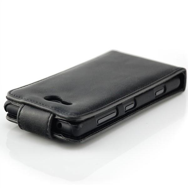Business Flip Case für Nokia Lumia 820 Schwarz