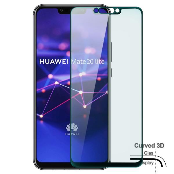 Curved Displayschutzglas für Huawei Mate 20 Lite - Schwarz