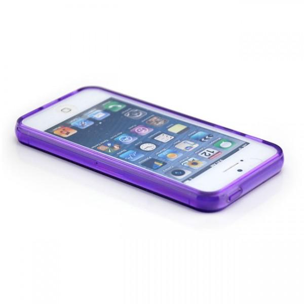 Silikon Case für Apple iPhone 5 & 5S Violett