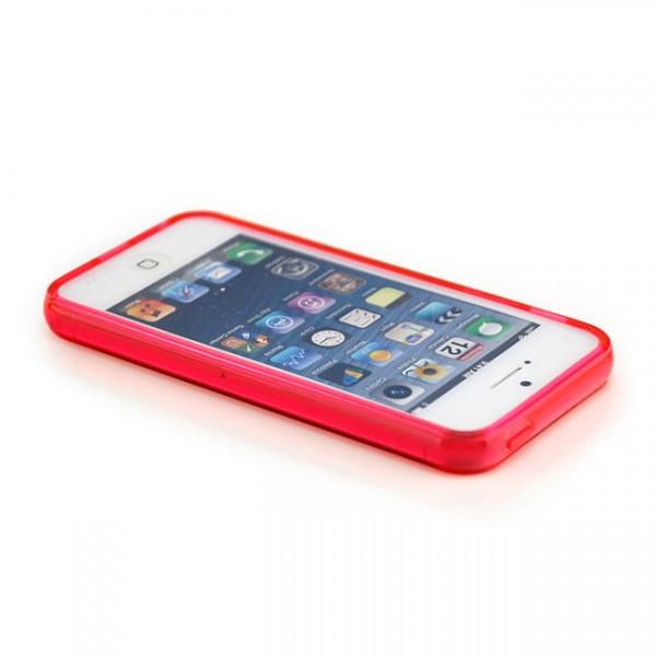 Silikon Case für Apple iPhone 5 & 5S Rot