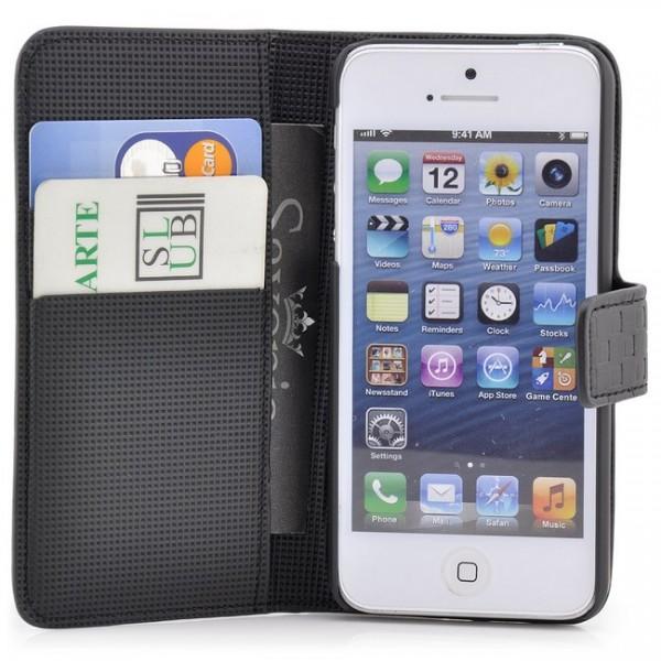 Squares-Style Tasche für iPhone 5 & 5S Schwarz