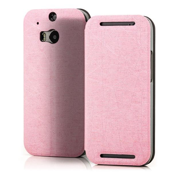 Slim Tasche für HTC One M8 Rosa