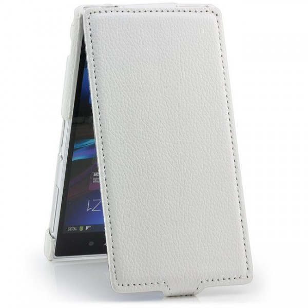Slim Flip Tasche für Sony Xperia Z1 Weiß