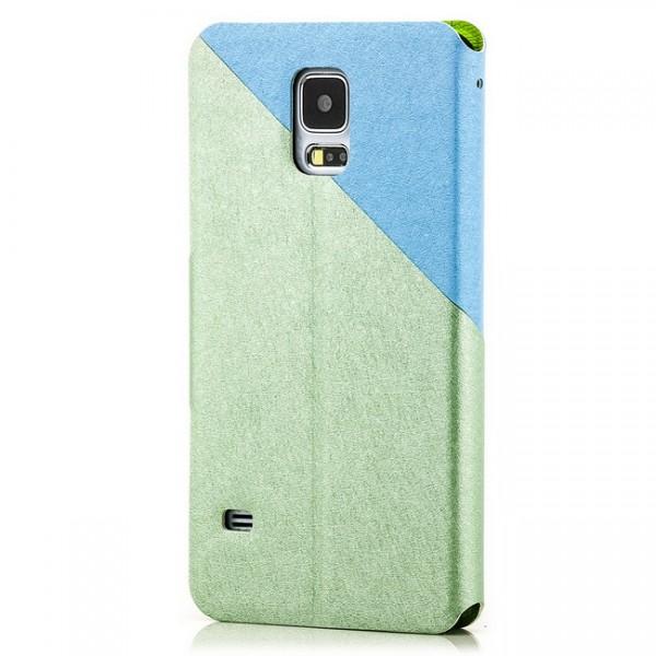 Two Colours Tasche für Samsung Galaxy S5 Grün-Blau