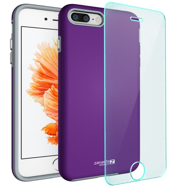 """Hybrid Case für Apple iPhone 8 / 7 (4,7"""") - Türkis + GLAS"""