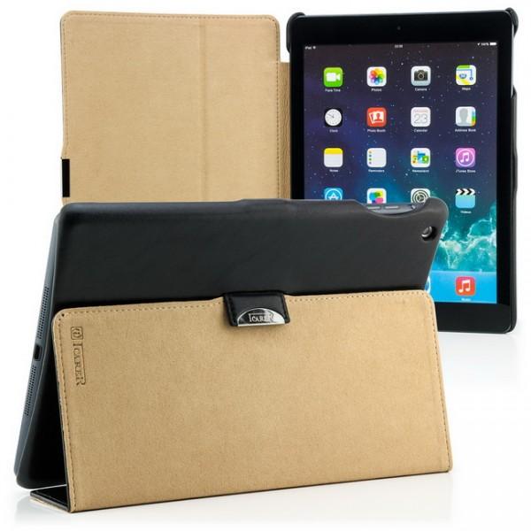 iCareR Microfiber Case für Apple iPad Air Schwarz