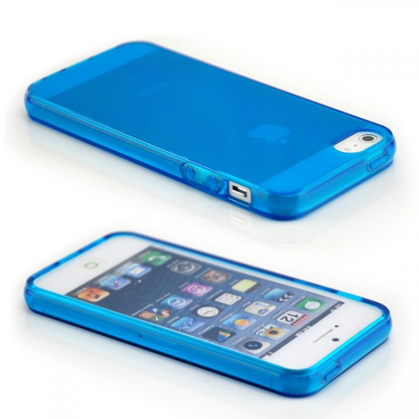 Silikon Case für Apple iPhone 5 & 5S Blau