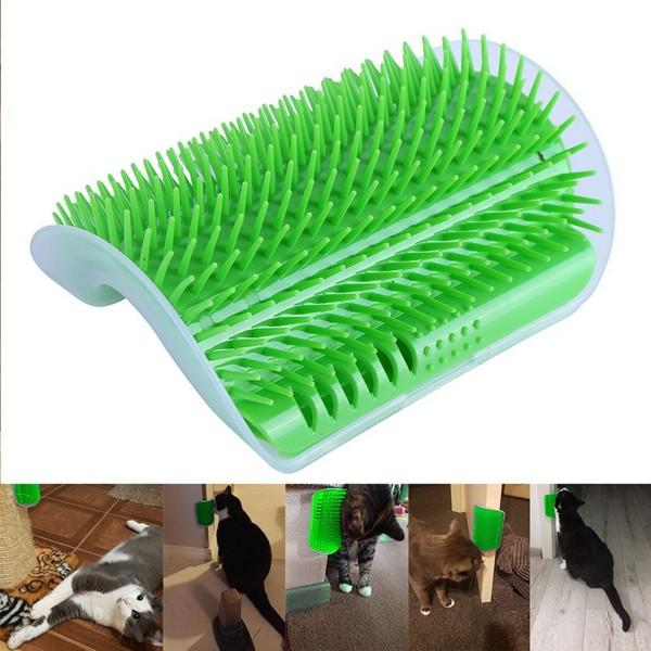Massage-Ecke für Katzen - Grün