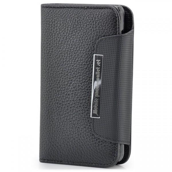 Flip Handytasche für Samsung Galaxy S2 Schwarz