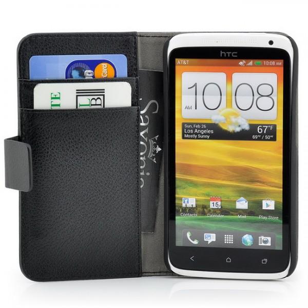 Schutzhülle mit Magnetverschluss für HTC One X Schwarz