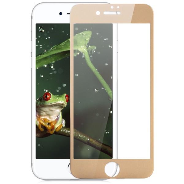 """Full Cover Displayschutzglas für Apple iPhone 7 Plus (5,5"""") - Gold"""
