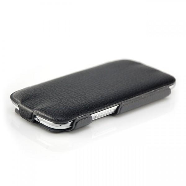 Skin-Style Flip Case für Samsung Galaxy S3 Schwarz