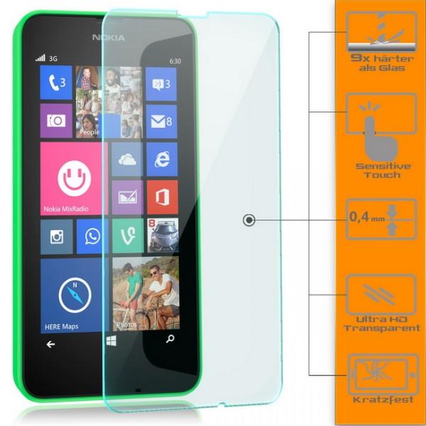 3x Displayschutzglas für Microsoft Nokia Lumia 630