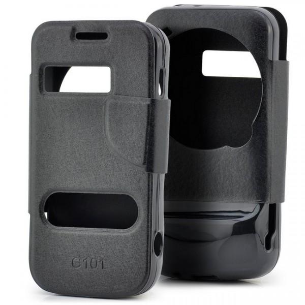 Schutz Tasche für Samsung Galaxy S4 Zoom Schwarz