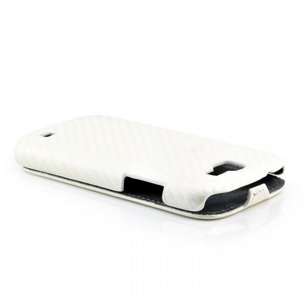 Carbon Flip Case für Samsung Galaxy Express Weiß