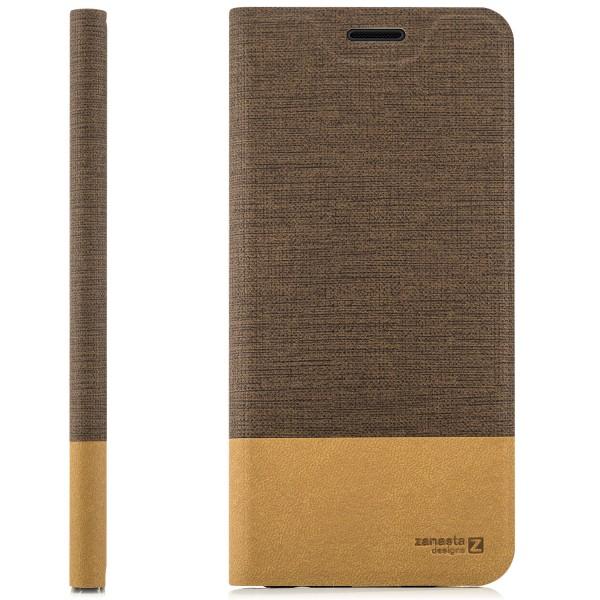Kunstleder Slim Tasche für HTC 10 EVO - Hellbraun