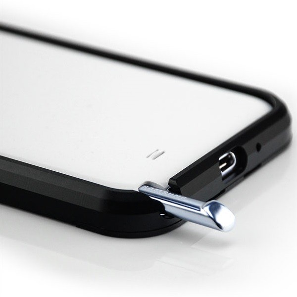 Saxonia Aluminium Bumper für Samsung Galaxy Note 2 Schwarz