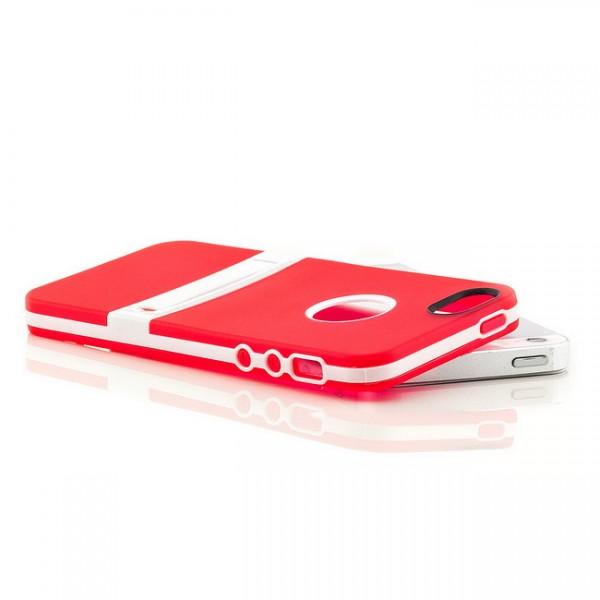 Silikon Stand Case für Apple iPhone 5 & 5S Rot