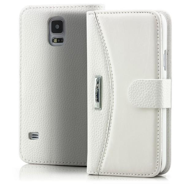 Business Handytasche für Samsung Galaxy S5 Weiß