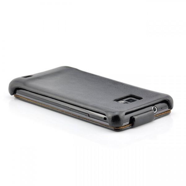 Business Flip Case für Samsung Galaxy S2 Schwarz