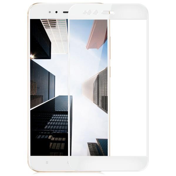 Full Cover Displayschutzglas für Xiaomi Mi 5X / Mi A1 - Weiß