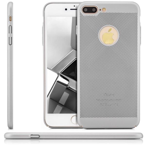 """Gitter Schutzhülle für Apple iPhone 8 Plus / 7 Plus (5,5"""") - Silber"""