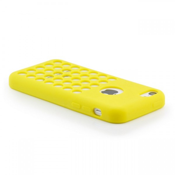 Holes Style TPU Back Cover für Apple iPhone 5C Gelb