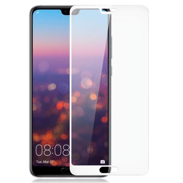 Full Cover Displayschutzglas für Huawei P20 Pro - Weiß