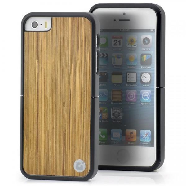 CDN Dekoratives Laminat Case für Apple iPhone 5 & 5S Braun